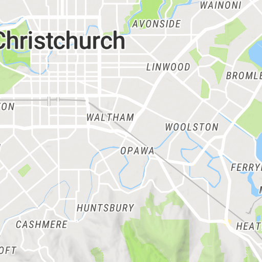 Christchurch Suburbs : Scribble Maps on