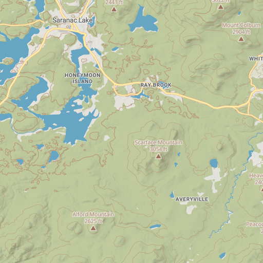 Lake Placid 9'er Map