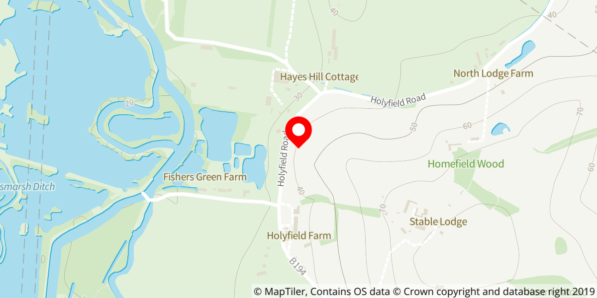 Map of Lee Valley Park Farms