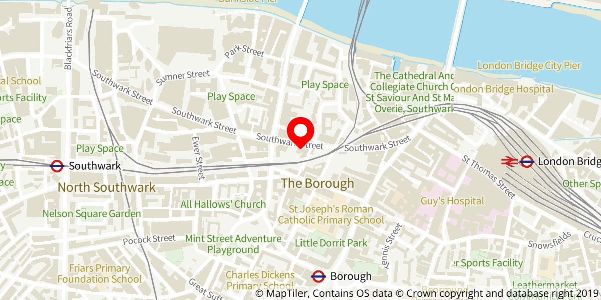 Map of Indecent at Menier Chocolate Factory