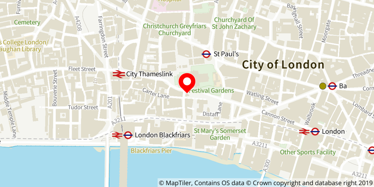 Map of City Information Centre