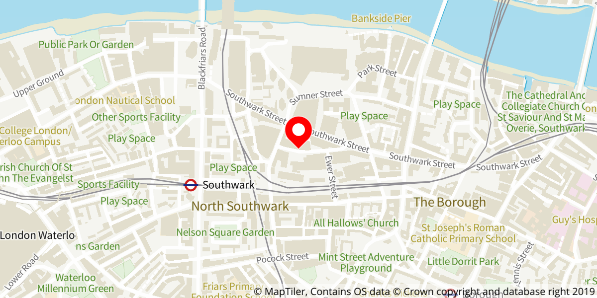 Map of citizenM London Bankside Hotel