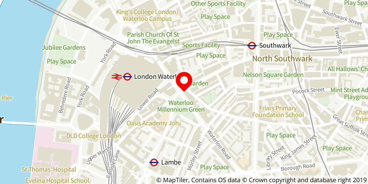 Map of Into The Woods at The Old Vic
