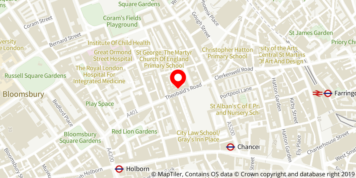 Map of Camden Local Studies and Archives Centre