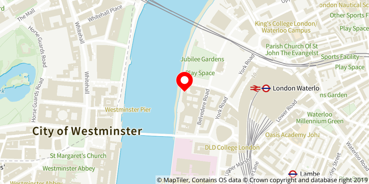 Map of Witness for the Prosecution at London County Hall
