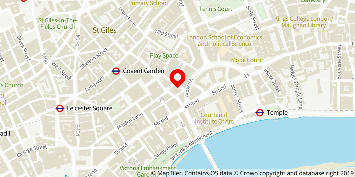 Map of The Play That Goes Wrong at Duchess Theatre