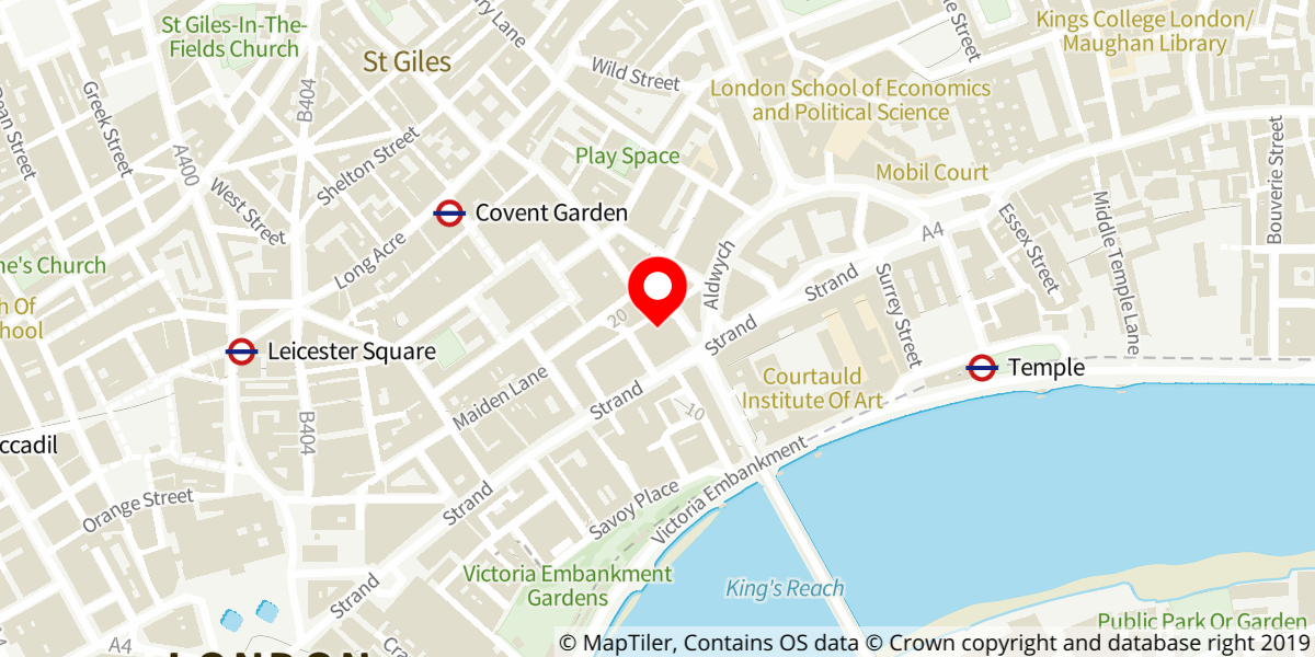 Map of The Lion King at Lyceum Theatre