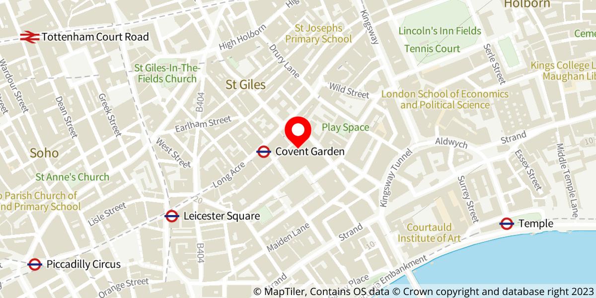 Map of The Royal Opera Christmas Concert at Royal Opera House