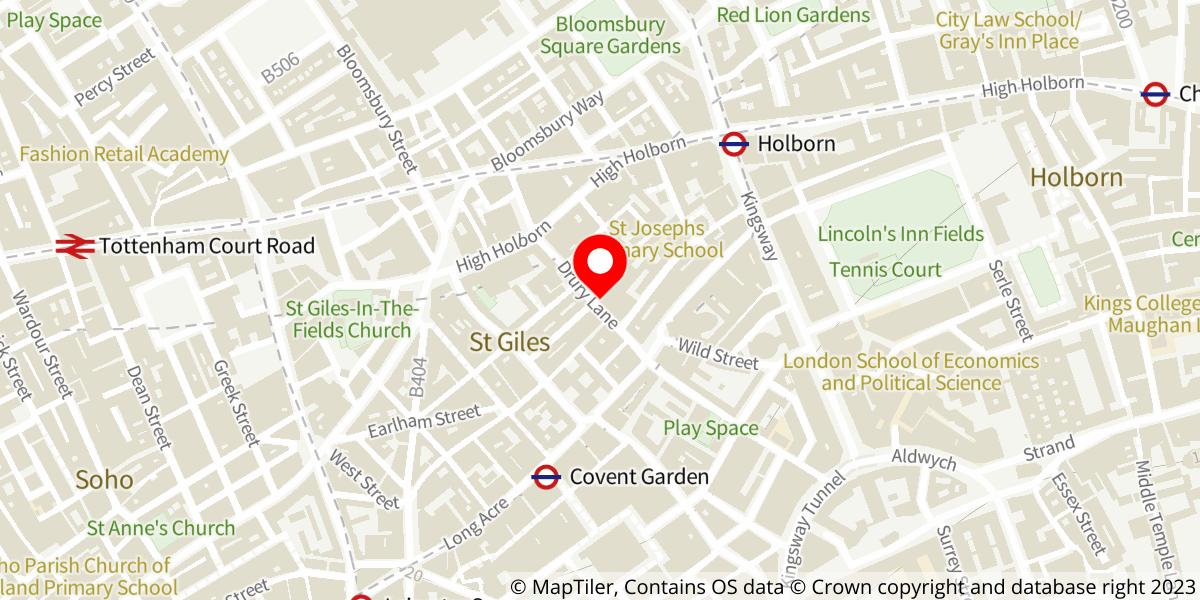 Map of Andrew Lloyd Webber's Cinderella at Gillian Lynne Theatre