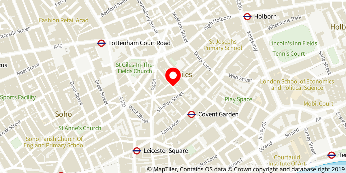 Map of La Clique at Spiegeltent at Leicester Square