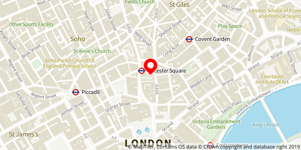 Map of The Comeback at Noel Coward Theatre