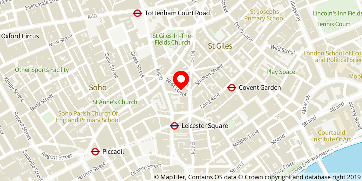 Map of The Mousetrap at St Martin's Theatre