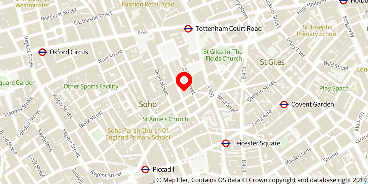 Map of Mary Poppins at Prince Edward Theatre