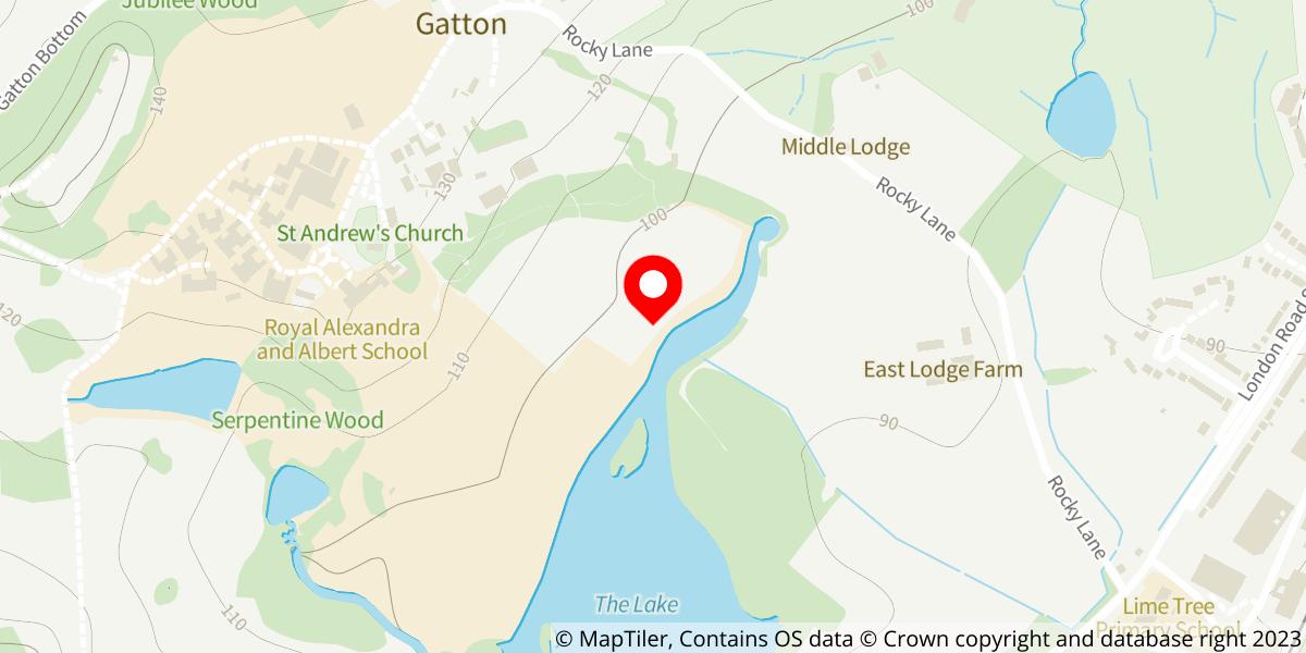 Map of Gatton Park