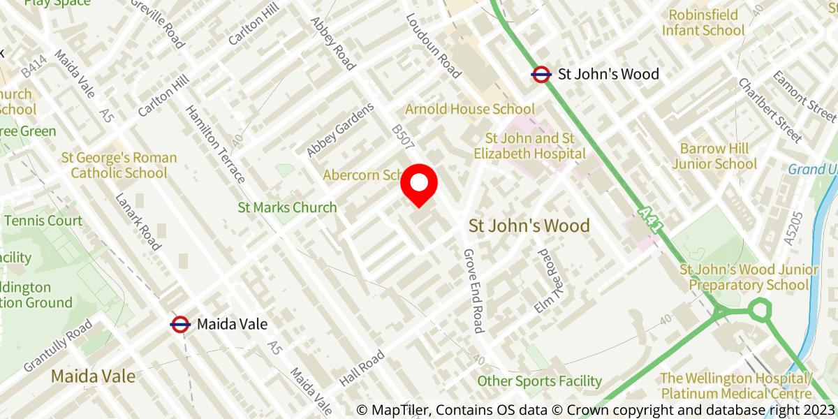 Map of Abbey Road Studios