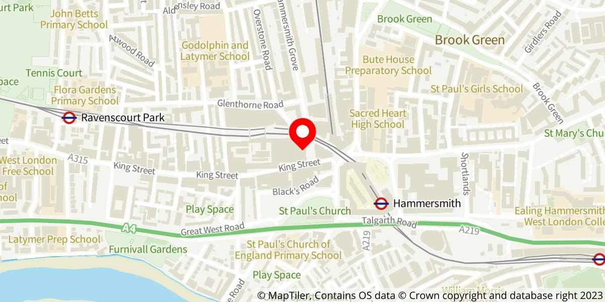 Map of Aladdin - Christmas 2021 at Lyric Hammersmith