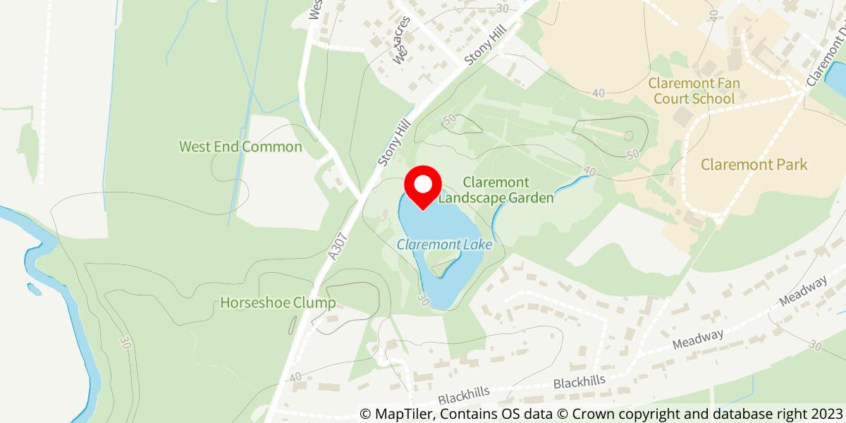 Map of Claremont Landscape Garden