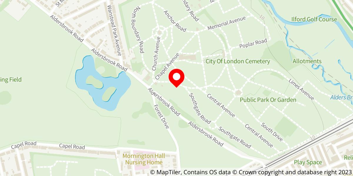 Map of City of London Cemetery & Crematorium
